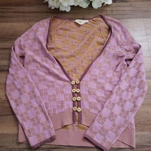 Anthropologie HWR Pink cardigan size Small